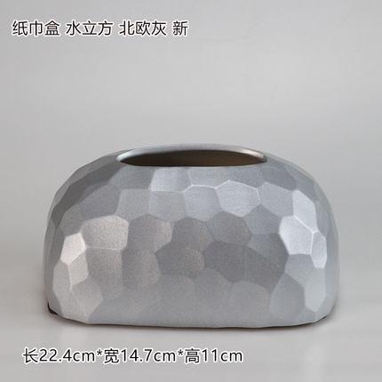 Современная керамическая золотая коробка для салфеток для дома простая гостиная ресторан отель бумажная коробка для хранения полотенец настольные украшения - Цвет: E