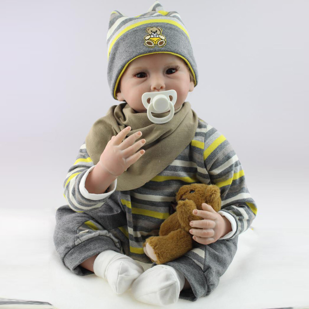 Здесь можно купить  NPK 55cm Simulation Reborn Doll Silicone Baby Kids Sleeping Playmate Toy Simulator Dolls Girls Gift S7JN  Игрушки и Хобби