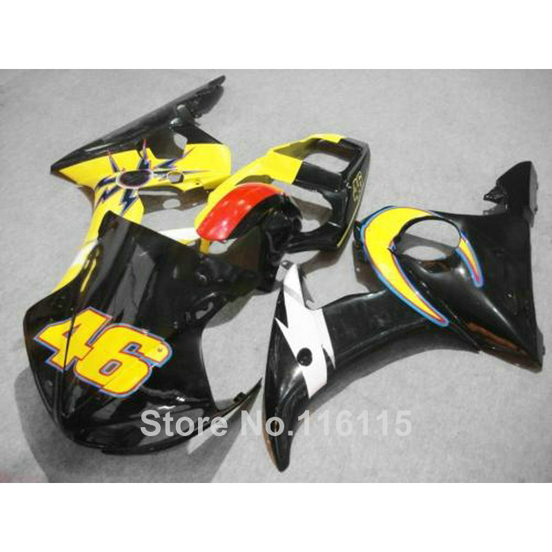 HOT! ABS fairing kit for YAMAHA R6 2003 2004 2005 black yellow red YZF R6 03 04 05 motorcycle fairings set 1447