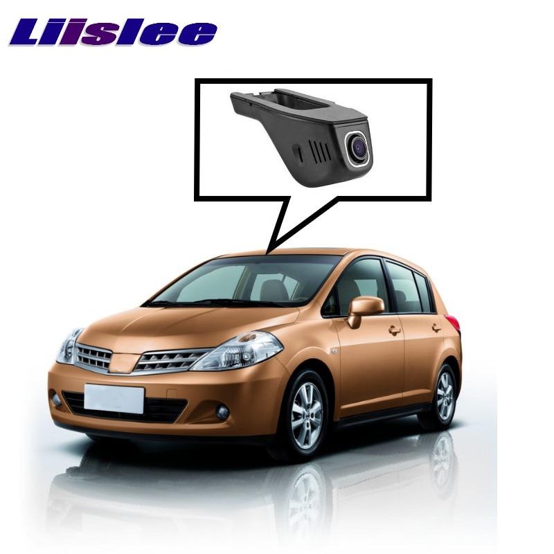 LiisLee Car Black Box WiFi DVR Dash Camera Driving Video Recorder For NISSAN Tiida C12 C13 2011~2017 bigbigroad for nissan almera 2014 nv3500 tiida murano venucia leaf car video recorder dash cam wifi dvr dual camera black box