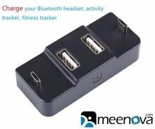 ФОТО meenova usb 2.0 hub with microusb charging, for bluetooth headset, headphone, activity tracker, fitness tracker, charging dock