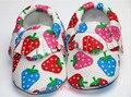 Arco iris de la Fresa Zapatos de Cuero de LA PU Bebé Mocasines Moccs Suaves Borlas Zapatos Zapato de Bebé Recién Nacido Bebé Primeros Caminante Infantil Prewalker