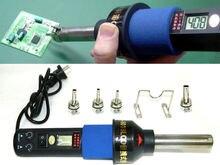 220 В 450 Вт 450 град. жк регулируемые электронный тепло воздушный пистолет демонтажные паяльная станция IC SMD BGA + 4 части сопла