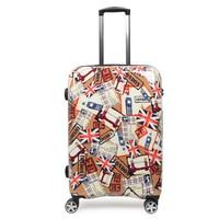 Anti Theft Cabin Luggage 20 Inch Hardshell Luggages Travelling Suitcase On Wheels Unisex PC Trolley Fashion Graffiti Suitcases
