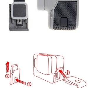 Image 3 - צד דלת החלפת USB C יציאת צד כיסוי עבור GoPro Hero 5/6 אביזרים