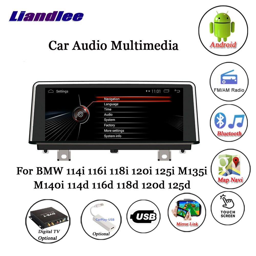 Liandlee Android Pour BMW 114i 116i 118i 120i 125i M135i M140i 114d 116d  118d 120d 125d Carplay Caméra GPS Navigation Multimédia
