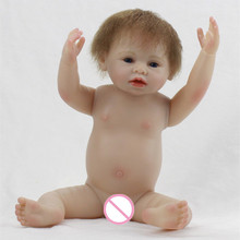 20inch Full Body Silicone Reborn Baby Boy Doll Boneca BeBe Bonecas Juguetes Brinquedos Toys for Gifts