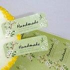 120PCS/lot Fresh Style Flower Hand Made Seal Sticker High Quality Handmade Gift Label Sticker