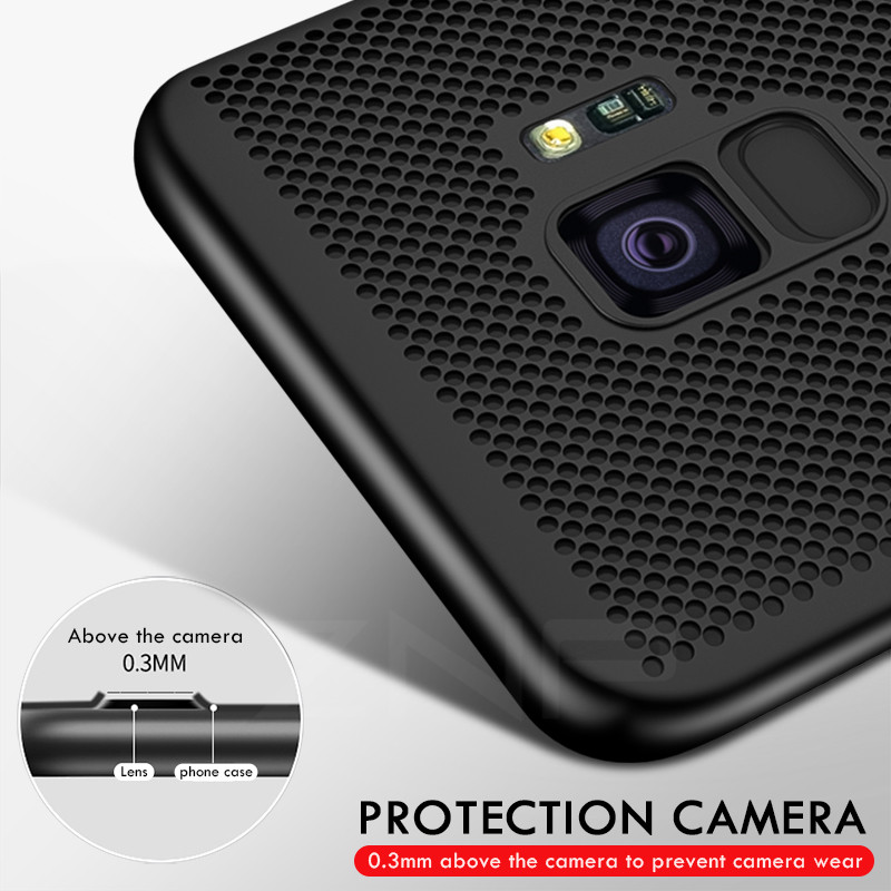 Image 4 - ZNP Ultra Slim Grid Heat Dissipate Phone Case For Samsung Galaxy S9 S8 Plus Note 9 8 Back Cover Case For Samsung S7 S6 Edge Case-in Fitted Cases from Cellphones & Telecommunications