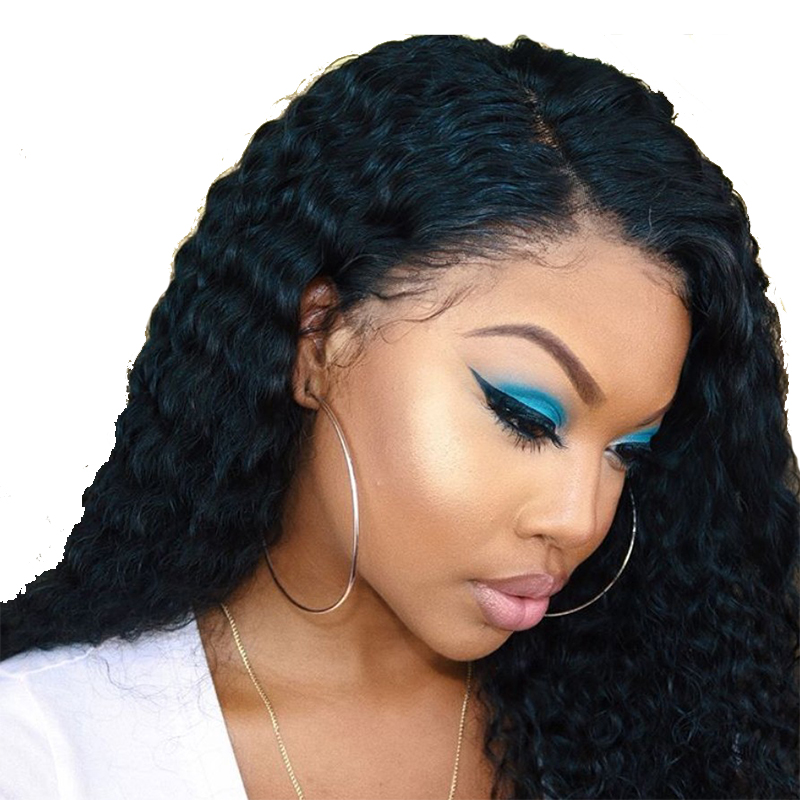 Deep Part 13x6 Lace Front Human Hair Wigs 150 Density Brazilian Remy Hair Pre Plucked Glueless