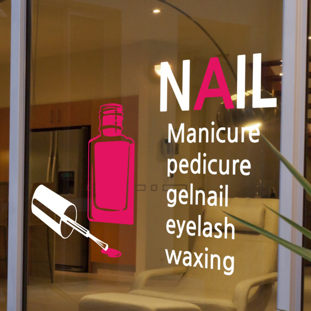 Free Shipping Beauty Cosmetics Wall Stickers Nail Art Eyelash Glass