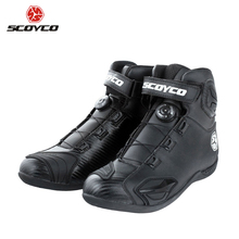 hot deal buy scoyco motorcycle boots leather motocross boots motorcycle touring riding boots shoes with shell protection atop buckles mbt010