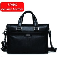 Free Shipping P Kuone Man Commercial Male Handbag Genuine Leather Shoulder Men S Casual Bag Leather