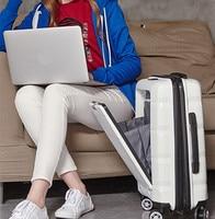 20/24 компьютеров loptop чемодан Сумки на колёсиках Hardside Spinner сумка тележка путешествия интернат малая де Viagem чемодан koff xl022