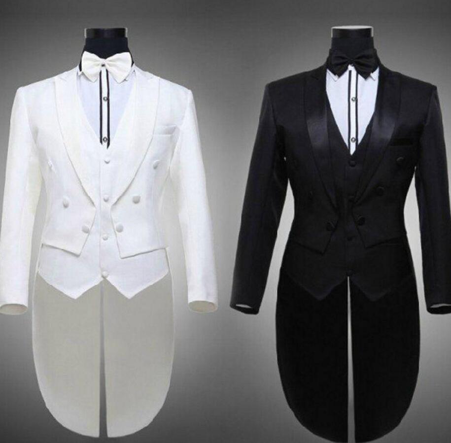 4ce024248 Venta caliente tailcoat novio Esmoquin mejor hombre padrinos de boda de los  hombres Trajes muesca solapa traje de rendimiento personalizado (chaqueta +  ...