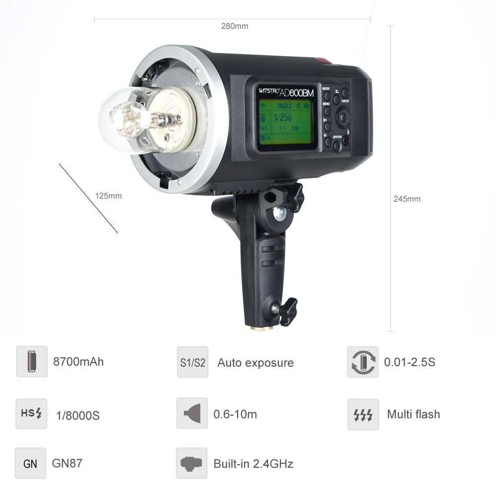 Godox AD600BM Bowens Mount 600Ws GN87 High Speed Sync Outdoor Flash Strobe Light with X1T-N Wireless Flash Trigger for Nikon