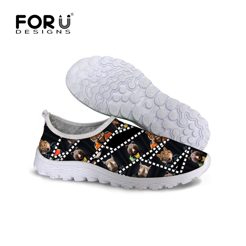 Black Women Shoes Casual Animal Dog Bear Printing Air Mesh Shoes,Breathable Female Lady Outdoor Sport Trainers Mujer Deportivas new women outdoor trainers air walking lover shoes fashion breathable sport women s casual shoes zapatillas deportivas hombre