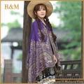 2016 Womens Elegant Reversible Floral Paisley Pashmina Shawl Wrap Scarf Free Shipping