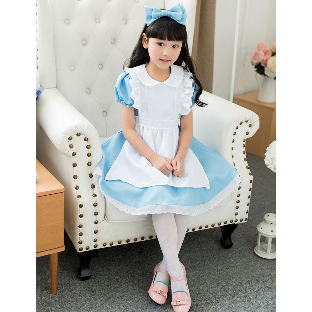 6643e1c9c72 Костюмы и аксессуары Umorden Blue Baby Girl Lolita Dress Alice in Wonderland  Costume Cosplay Fantasia Halloween Costumes for Girls Kids Children