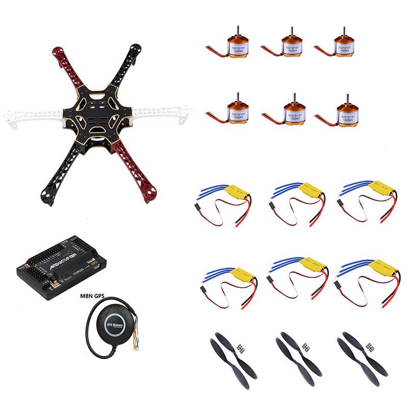 S550 multi-axle parts DIY drone aerial photography multi-rotor model s550 Full Set 6-axis Aircraft Kit 2812 brushless M8N GPSS550 multi-axle parts DIY drone aerial photography multi-rotor model s550 Full Set 6-axis Aircraft Kit 2812 brushless M8N GPS