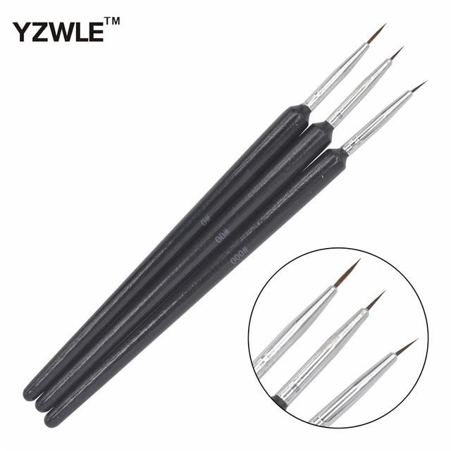 WUF 3PCS/1Set Kolinsky Acrylic Nail Brush Professional Brushes Nail ...