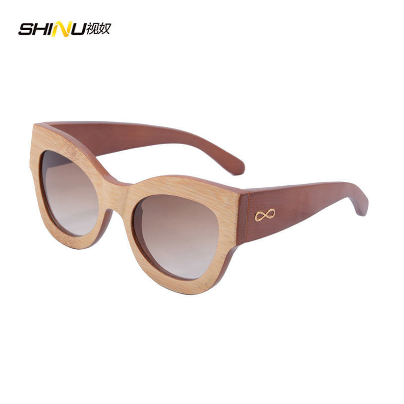 Top Fashion Women Big Frame Sunglasses Bamboo Shield ...