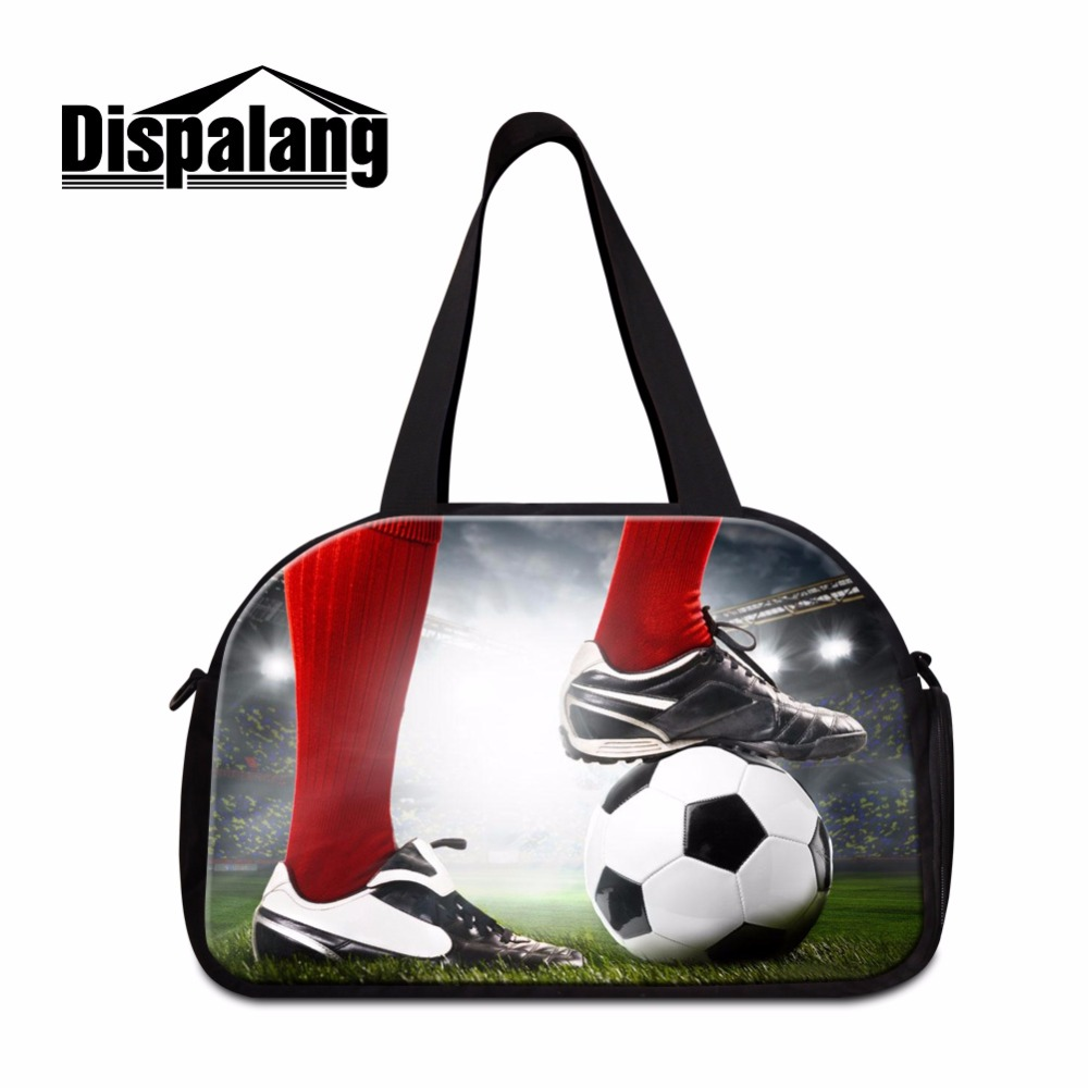 Dispalang Socceri Travel Bag Gymy Bag for Men Large Shoulder Duffle Bag Sporty Style Travel Tote travel overnight bag for boys