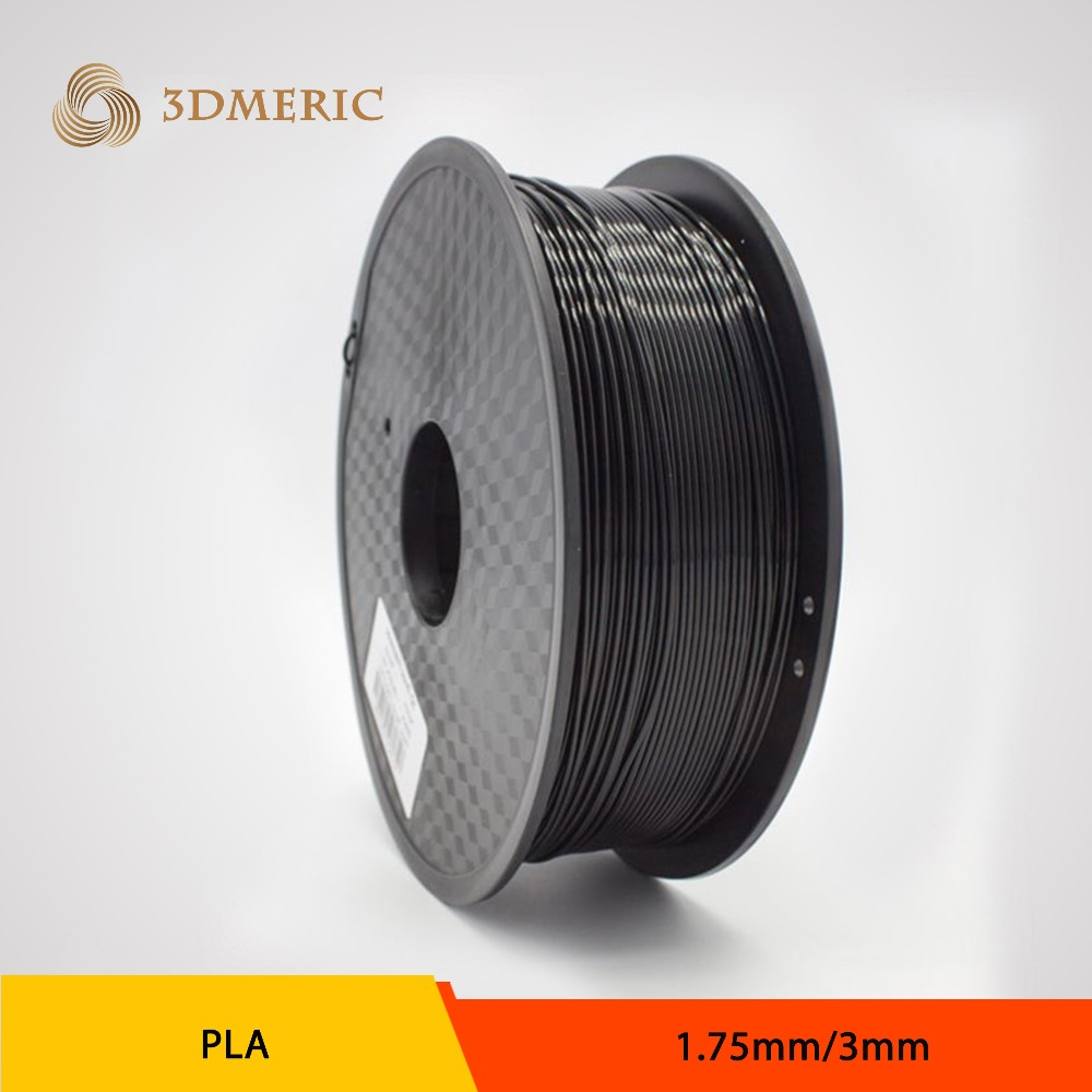 PLA 1.75mm Black 3D Printing Filament for 3D Printer flsun 3d printer big pulley kossel 3d printer with one roll filament sd card fast shipping
