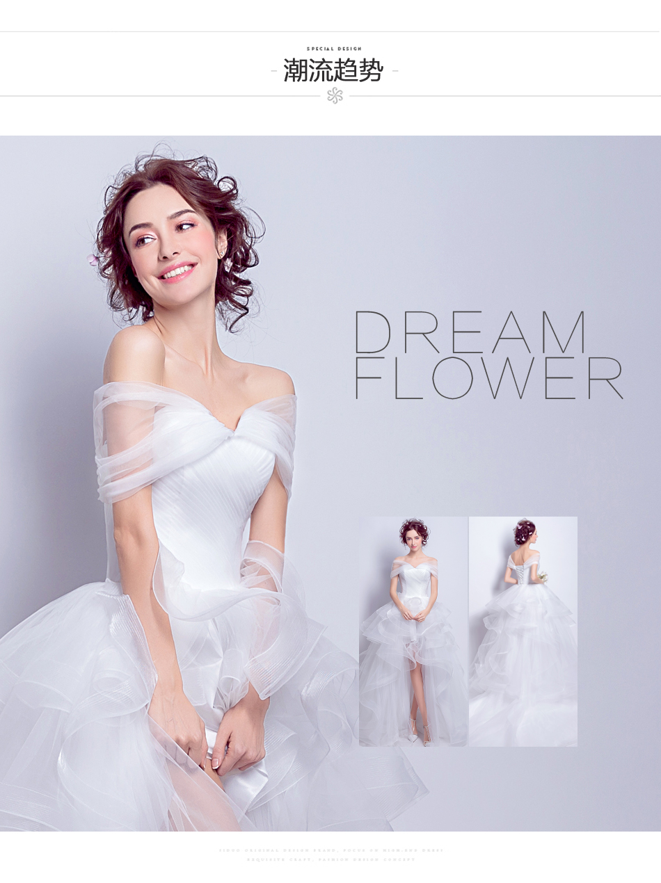 Angel Wedding Dress Marriage Evening Bride Party Prom Bridal Gown Vestido De Noiva 2017 Boat Neck asymmetrical7207 5