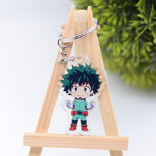 My Hero Academia Keychain Cute Double Sided 7 Styles Key Chain Pendant Acrylic Anime Accessories Cartoon Key Ring DBS1P