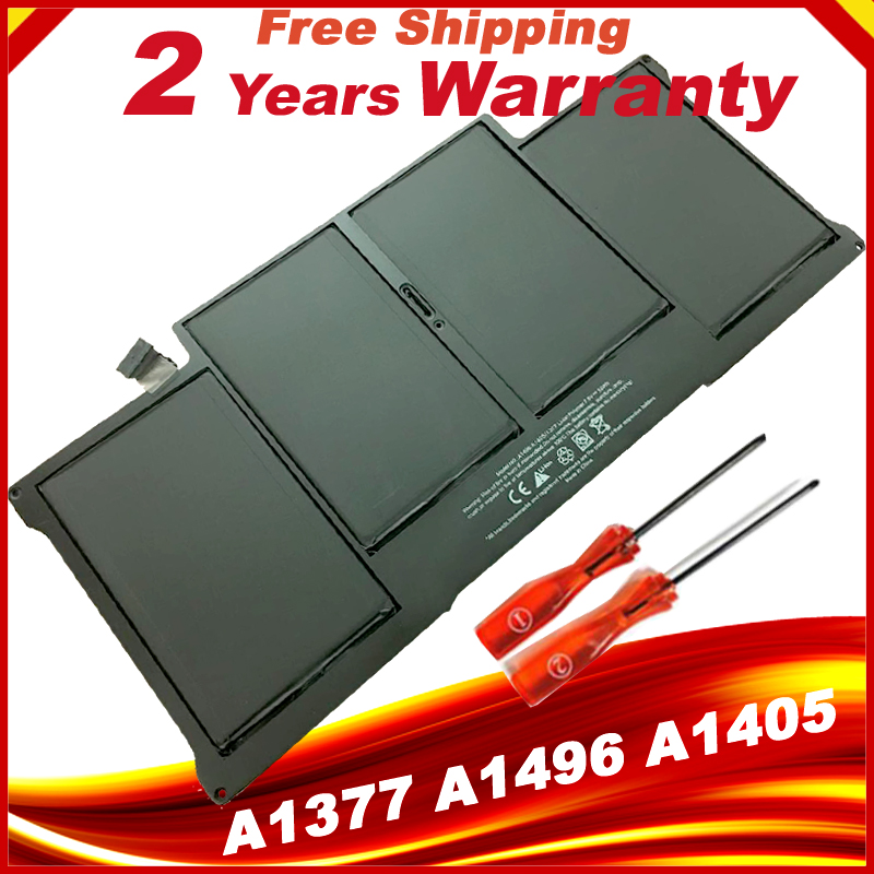 Black Laptop Battery Replace For Apple Macbook Air A1377 A1496 A1405 A1369 A1466 Macbook battery wholesale new laptop battery for apple macbook air 13 a1466 a1369 [2011 production] replace a1405 battery free shipping