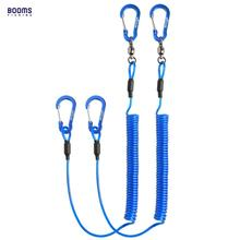 Booms Fishing T02 2pcs Heavy Duty Fishing Lanyard for Boating Ropes with Camping Carabiner Secure Lock Fishing Tools Accessories