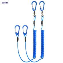 Booms Fishing T02 2pcs Heavy Duty Lanyard for Boating Ropes with Camping Carabiner Secure Lock Tools Accessories