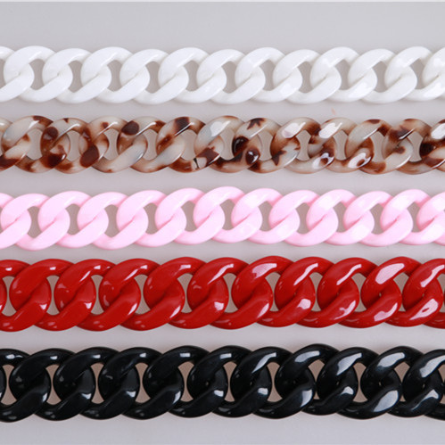 Luggage & Bags Pearl Color Resin Chains For Bag Strap Diy Handbag Accessories Bag Strap Plastic Chains Acrylic Wholesale Purse Frame Ornament