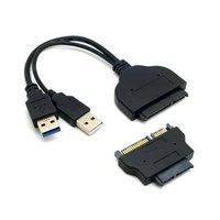 1set USB 3.0 to SATA 22Pin & SATA to 16Pin Micro SATA Adapter for 1.8
