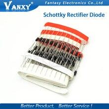 100PCS Schottky Rectifier Diode 1N5817 1N5819 1N5399 1N4937 1N4004 1N4001 1N4007 UF4007 HER107 FR207 FR157 FR107 RL207 DO-41 20pcs mbr30100 schottky diode 30a 100v to 220