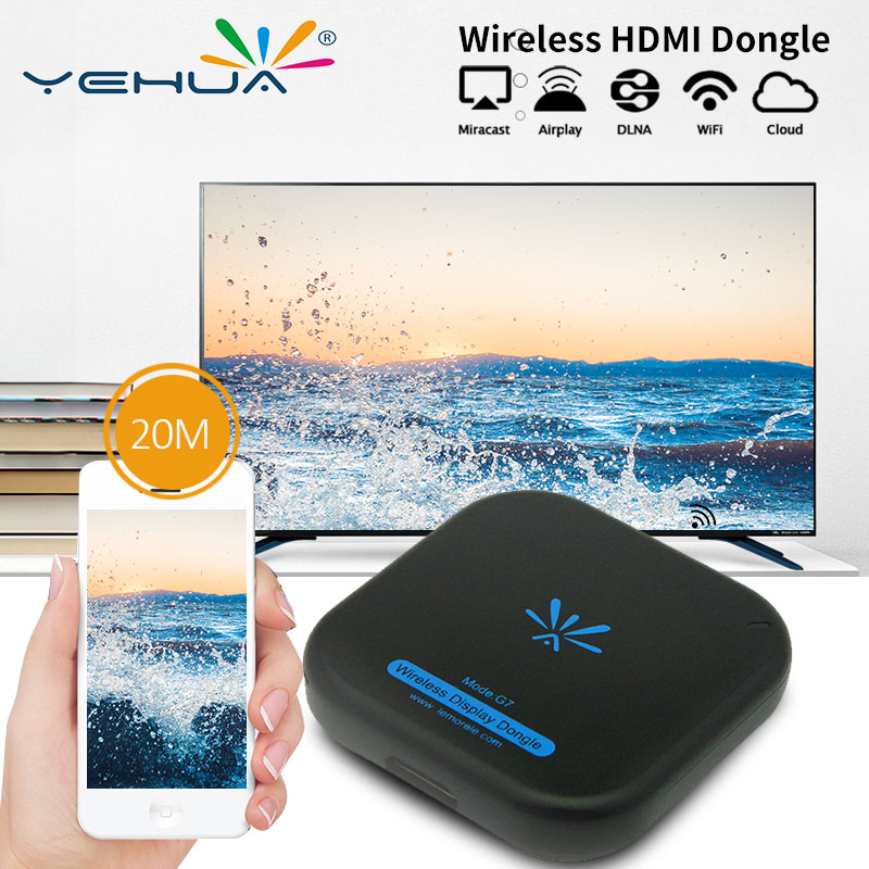 New TV Stick G7 5Ghz High Speed WiFi Display TV Dongle Support Miracast Airplay DLNA for Apple Android-in TV Stick from Consumer Electronics