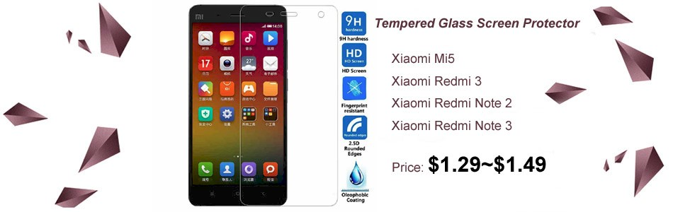tempered glass for xiaomi