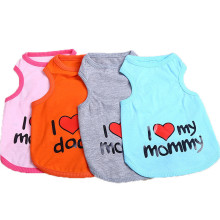 Fashion Cute 100% Cotton Pet Dog Vests with Mommy word Design Clothes for Small Dogs small dog 4 color