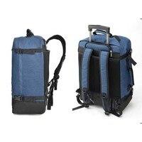 BeaSumore большой ёмкость Плечи дорожная сумка сверхлегкий Сумки на колёсиках рюкзак 20 дюймов Carry on тележка чемоданы колеса