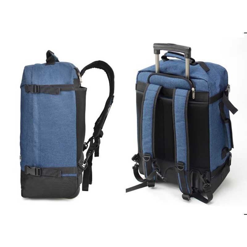 BeaSumore sac de voyage à épaules de grande capacité sac à dos ultra-léger à roulettes 20 pouces