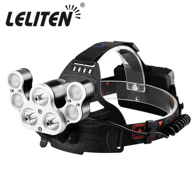 Outdoors Camping 30000LM XML-5xT6+2xXPE 7 Led Headlamp Waterproof Fishing light Hunting Headlight Camping tent lantern