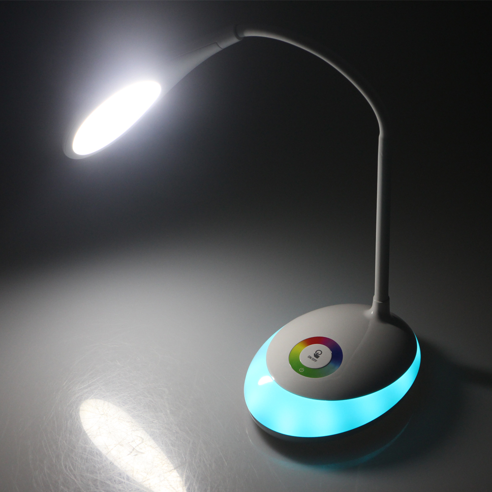 Rechargeable LED Table Lamp Touch Sensor 5000 5500K Eye Care Lamp ...