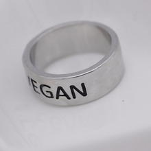 Vegan stainless steel ring