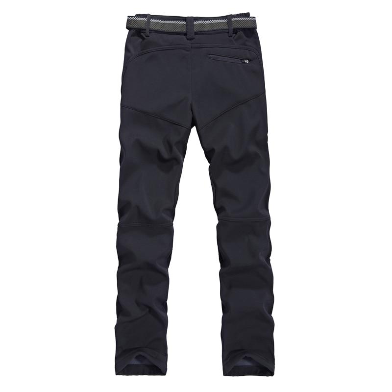 Pantalons de randonnée chauds pour femmes pantalons de survêtement en extérieur à coque souple doublure polaire pantalon d'hiver nouvelle dame pantalons de Camping Trekking - 3