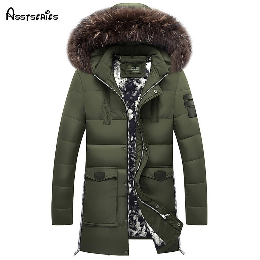 Free shipping Fur 2018 New Winter Jacket Men Cotton Padded Parka Man Long Thick Warm Casual Hooded Male Jacket Coat 155hfx 5xl winter thick warm jacket men casual long hooded coat fur collar parka men cotton padded jacket outwear male parkas hombre