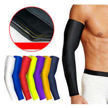 1 PCS Elbow Pads Men Breathable Quick Dry UV Protection Running Arm Sleeves Basketball Fitness Sports Protector Support
