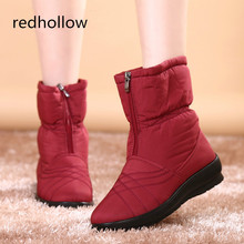 2019 Winter Snow Boots Waterproof Women Soft Warm Mother Shoes Casual Cotton Comfort Femal Plus Size 35-42