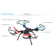 DC015-L3 4CH 6 Axis Gyro RC Quadcopter 2.0MP Helicopter FPV W/LED Light Drone