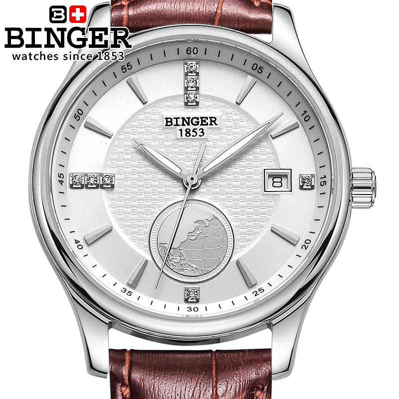 Switzerland watches men luxury brand Wristwatches BINGER Automatic self-wind Diver luminous full stainless steel watch BG-0409 гарнитура koss bt190iw вкладыши белый серый беспроводные bluetooth